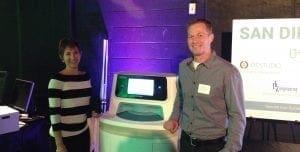 NOVO staff pose with AccuVax vaccine management system.