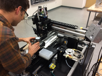 NOVO Engineer developing custom automation equipment in San Diego