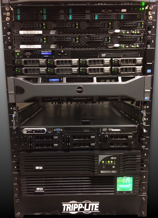 Onsite RAID 5 virtual machine network infrastructure for data security