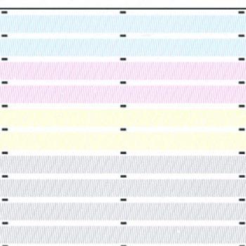 Image analysis plot to detect dead print nozzles