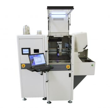 Automated silicon wafer coating system for spray or spin coating 300mm wafers - developed by NOVO Engineering