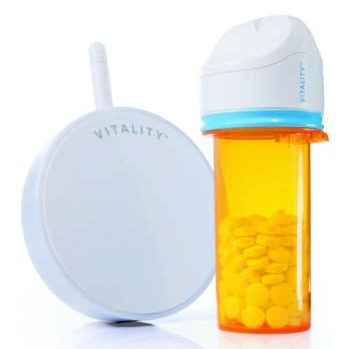 Vitality GlowCap Smart Prescription Bottle Cap with Engineering Support from NOVO Engineering